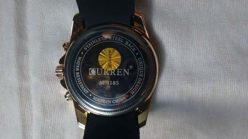 4ecf7bab0c5 Relógio Casual esportivo Curren Original - Cor Dourado - à Prova D ...