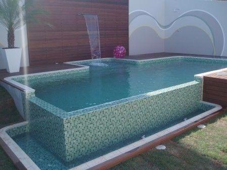 Constru ao de piscinas de alvenaria 7 x 3 x for Piscina pequena bebe